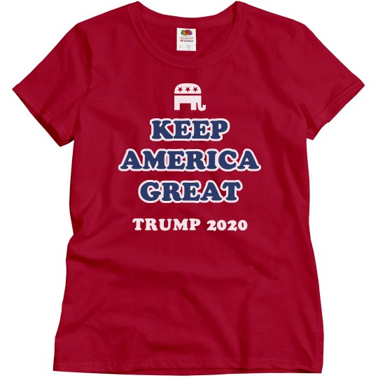 Ladies Republican Trump 2020 Tee