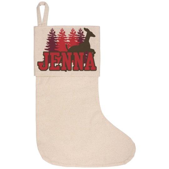 Lake House Stocking - Jenna