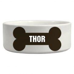 Thor Bone Dog Dish