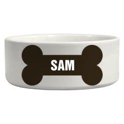 Sam Bone Dog Dish