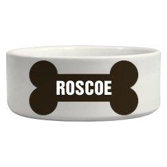 Roscoe Bone Dog Dish