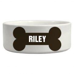 Riley Bone Dog Dish