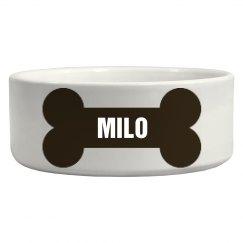 Milo Bone Dog Dish