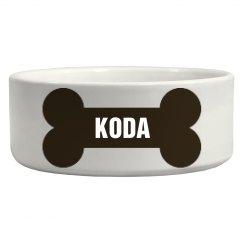 Koda Bone Dog Dish