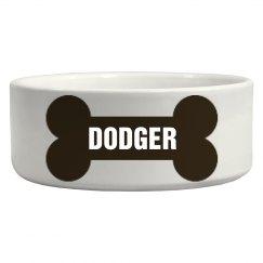 Dodger Bone Dog Dish