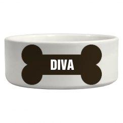 Diva Bone Dog Dish