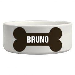 Bruno Bone Dog Dish