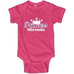 Princess Miranda Onesie
