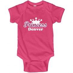 Princess Denver Onesie