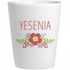 Cute Flower Yesenia Shot Glass