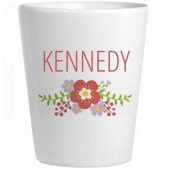 Cute Flower Kennedy Shot Glass