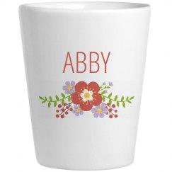 Cute Flower Abby Shot Glass