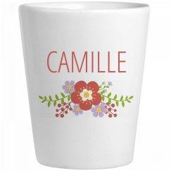 Cute Flower Camille Shot Glass