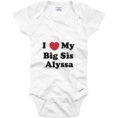 I Love My Big Sister Alyssa