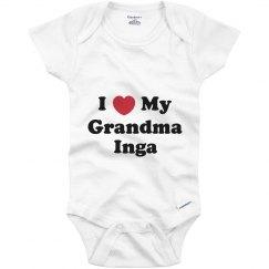I Love My Grandma Inga