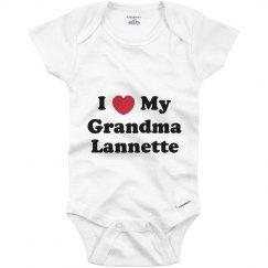 I Love My Grandma Lannette