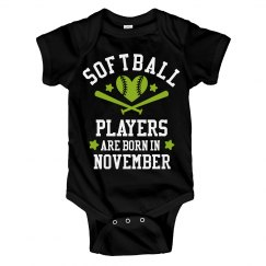 Softball Players Are Born In November