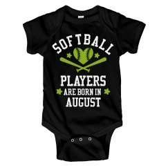 Softball Players Are Born In August