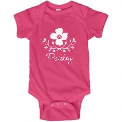 Flower Baby Girl Paisley