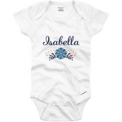 Blue Flower Baby Isabella