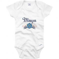 Blue Flower Baby Maya