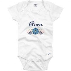 Blue Flower Baby Clara