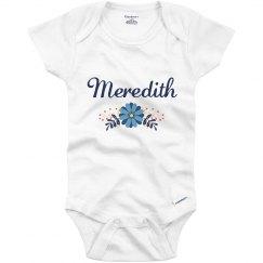 Blue Flower Baby Meredith
