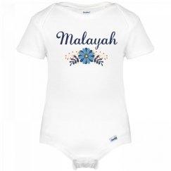 Blue Flower Baby Malayah