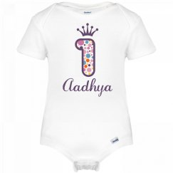 Aadhya 1st Birthday Outfit