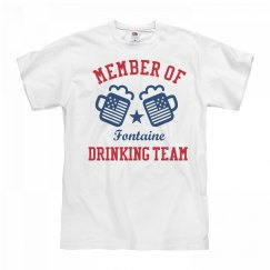 July 4th Fontaine Drinking Team