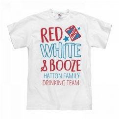 Red White & Booze Hatton Drinking Team
