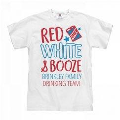 Red White & Booze Brinkley Drinking Team