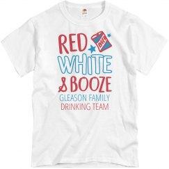 Red White & Booze Gleason Drinking Team