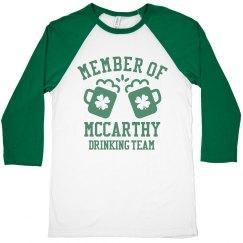 MCCARTHY Drinking Team Member