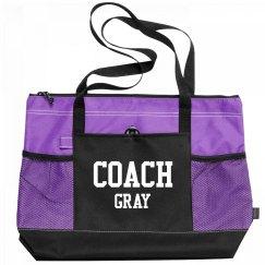 Coach Gray Sports Bag