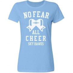 No Fear Cheer Girl Sky Hawks