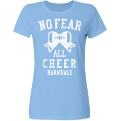 No Fear Cheer Girl Narwhale