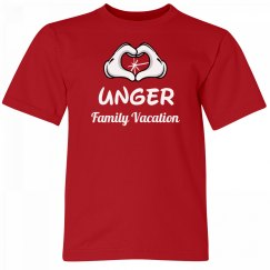 Unger Kids Family Vacation Tee