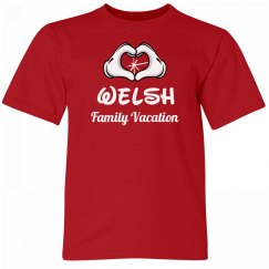 Welsh Kids Family Vacation Tee