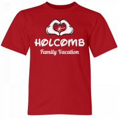 Holcomb Kids Family Vacation Tee