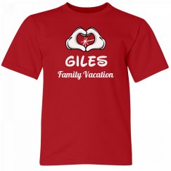 Giles Kids Family Vacation Tee