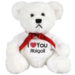 I Heart You Abigail Love