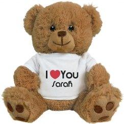 I Heart You Sarah Love