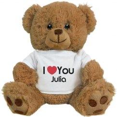 I Heart You Julia Love