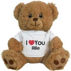 I Heart You Allie Love