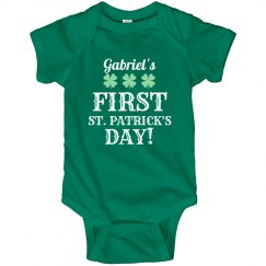 Gabriel's First St. Pattys Day