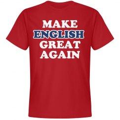 Make English Great Again