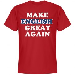 Make English Great Again