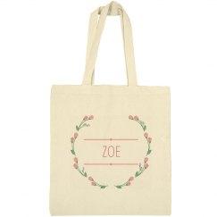 Floral Wreath Zoe Bag