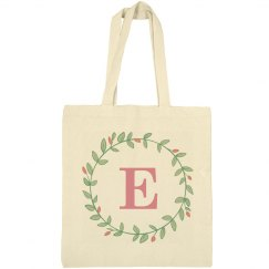 Trendy Initial E Wreath